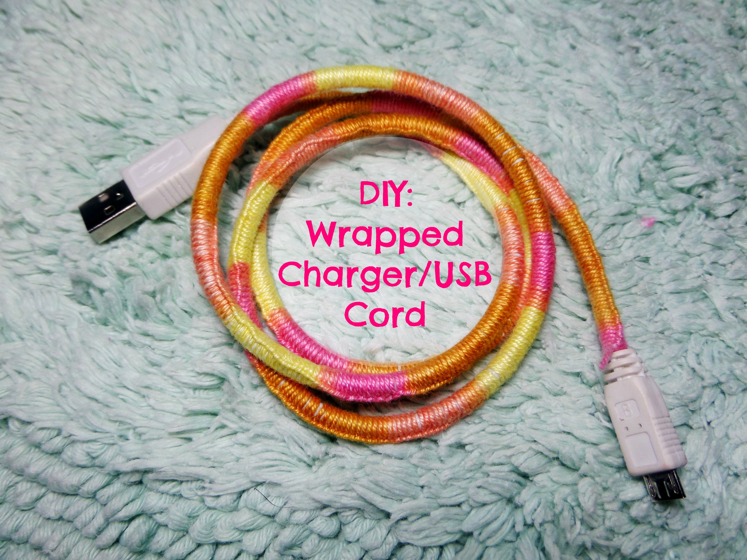 DIY : Wrapped Charger/USB cord | keiseeeinthecity